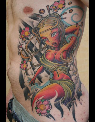 newschool dame tatovering