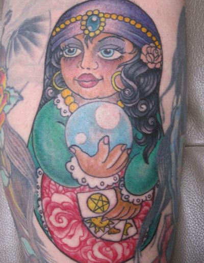 babushka dukke tatovering
