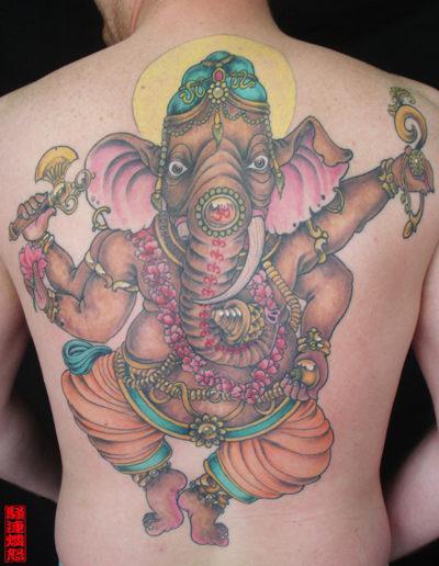 ghanesh tatovering