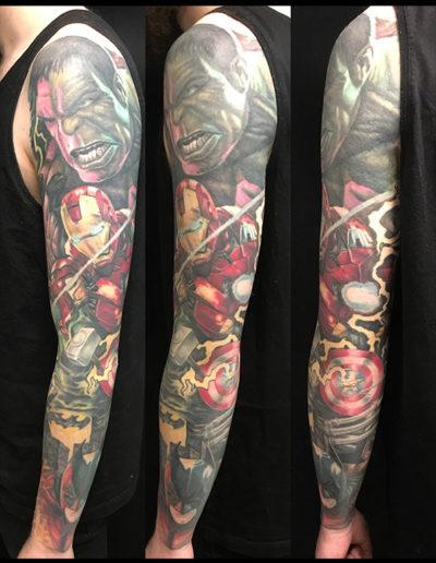 hulk tatovering