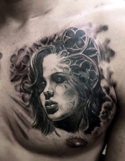 realistisk tatovering