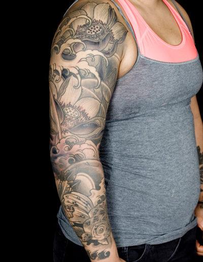 lotus koi tatovering