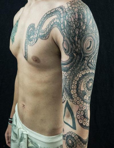 blæksprutte tako tatovering