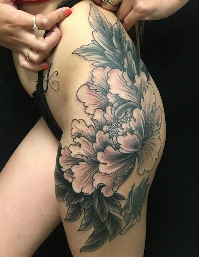 pegonia peoni botan tatovering