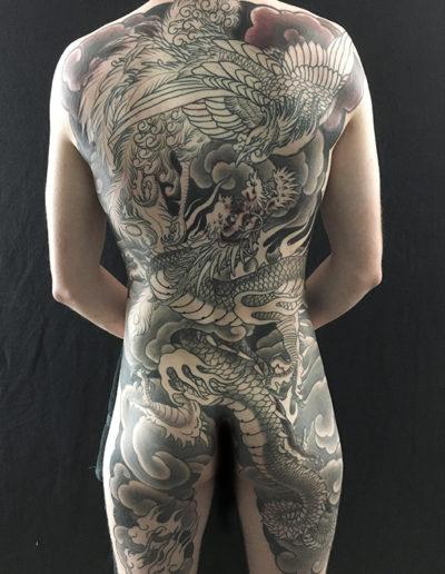 drage føniks tatovering