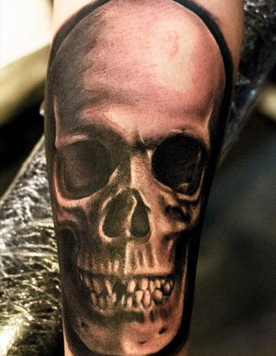 kranie skull tatovering